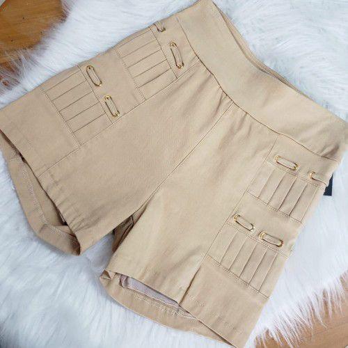 Shorts Pregas Bengaline Bege