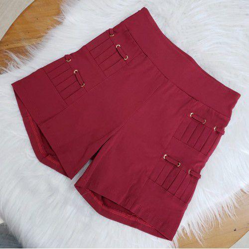 Shorts Pregas Bengaline Bordo