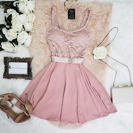 Vestido Boneca Princesa Rosa
