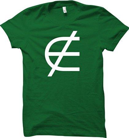 Camiseta Não pertence - Matemática
