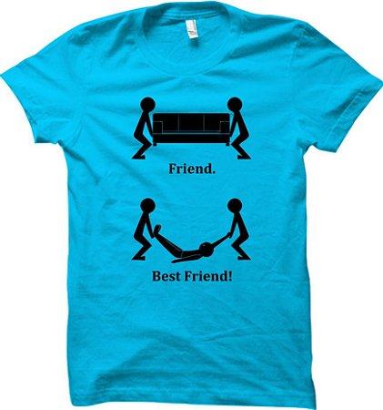 Camiseta Diferença de amigo pra Melhor Amigo