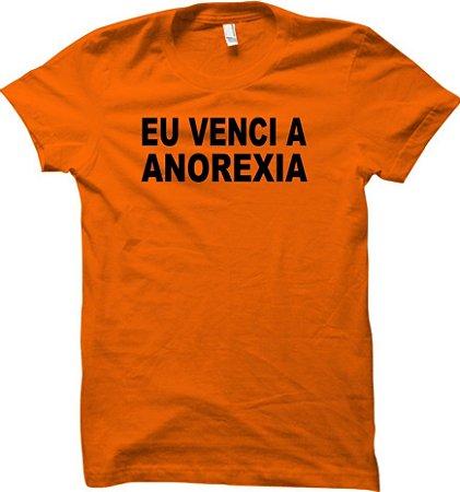 Camiseta Eu venci a Anorexia