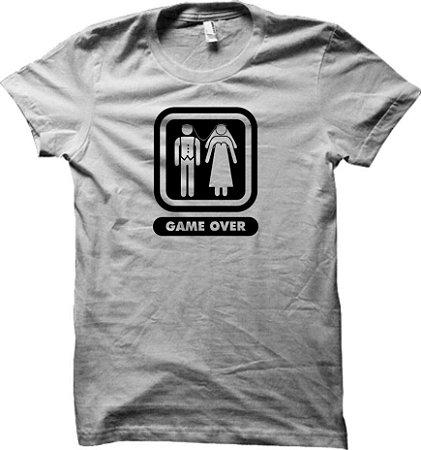 Camiseta Game Over - Noivos - Casamento