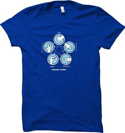 Camiseta Perda Papel Tesoura Lagarto Spock