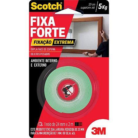 FITA DUPLA FACE DE ESPUMA 24X2M FIXA FORTE FIXAÇÃO EXTREMA SCOTCH 3M
