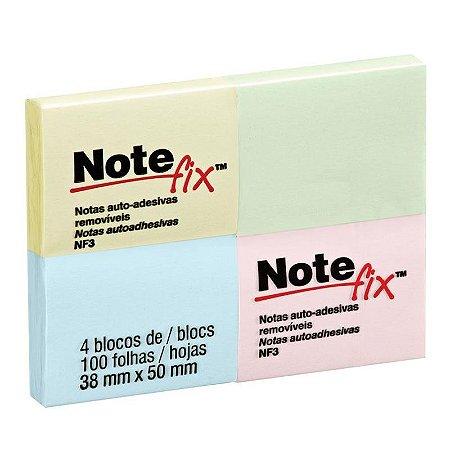 NOTEFIX 38X50MM 4 BLOCOS C/100 FOLHAS CORES 3M NF3