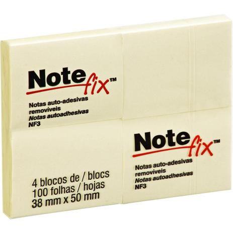 NOTEFIX 38X50MM 4 BLOCOS C/100 FOLHAS AMARELO 3M NF3
