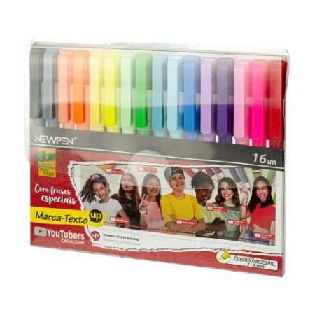 MARCA TEXTO C/16 CORES YOUTUBERS COLLECTION NEWPEN