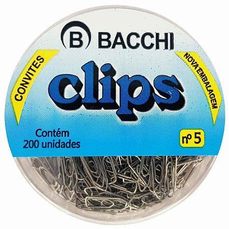 CLIPS NIQUELADO N.5 COM 200 UN. BACCHI