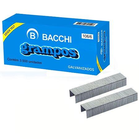 GRAMPO GALVANIZADO ROCAMA 106/6 CAIXA COM 3500 UN. BACCHI