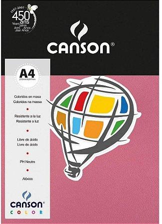 PAPEL COLOR A4 180G ROSA CHICLETE PCTE C/10 FOLHAS CANSON 66669806