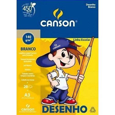 BLOCO DE DESENHO A3 140G BRANCO COM 20 FOLHAS CANSON 66667071