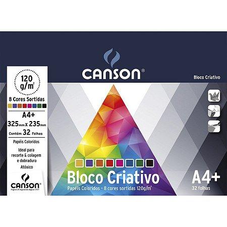 BLOCO CRIATIVO 325X235MM 120G 8 CORES COM 32 FOLHAS CANSON 66667158