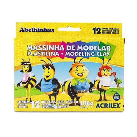 MASSINHA DE MODELAR C/12 CORES 180G ACRILEX 07012