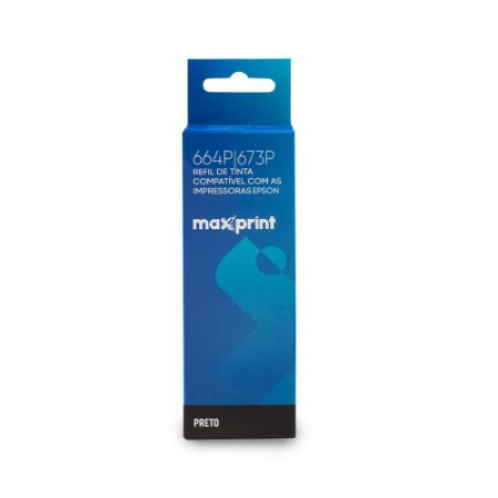 REFIL DE TINTA 664P|673P PRETO COMPATÍVEL COM EPSON MAXPRINT 6116169