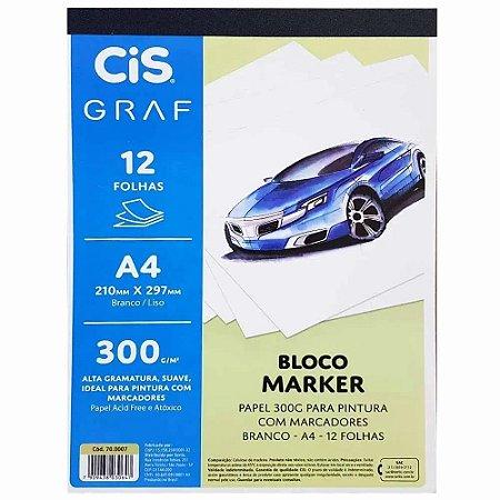 BLOCO MARKER A4 300G C/12 FOLHAS CIS GRAF 70.0007