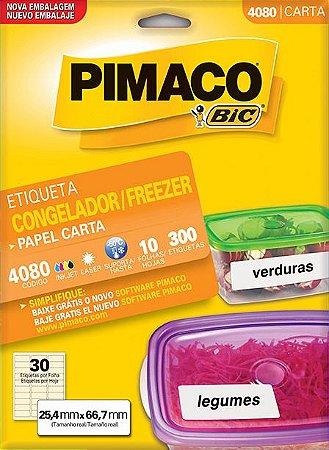 ETIQUETA INKJET/LASER 25,4 x 66,7 PARA FREEZER C/10 FLS PIMACO 4080