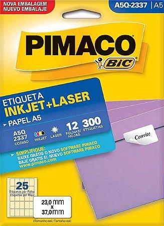 ETIQUETA INKJET/LASER A5 23,0 x 37,0 C/12 FLS PIMACO A5Q-2337