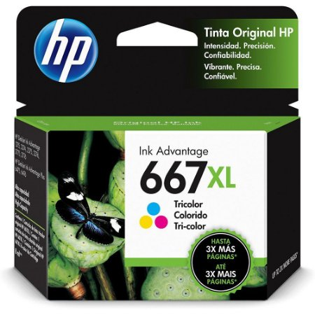 CARTUCHO HP 667XL COLORIDO ORIGINAL 3YM80AB