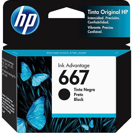 CARTUCHO HP 667 PRETO ORIGINAL 3YM79AB