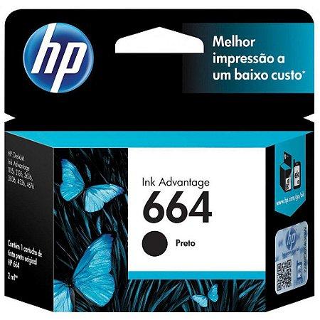 CARTUCHO HP 664 PRETO ORIGINAL F6V29AB