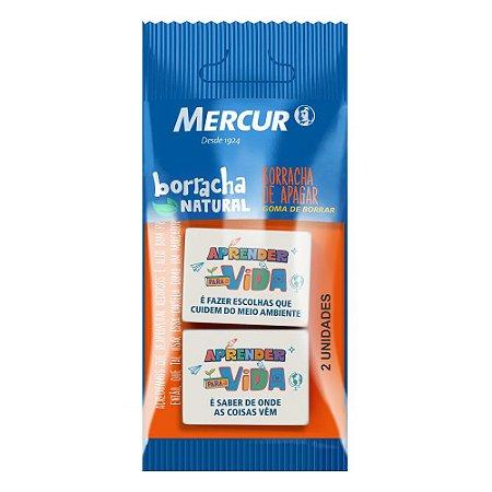 BORRACHA NATURAL APRENDER PARA A VIDA C/2 UN. MERCUR B01010301086