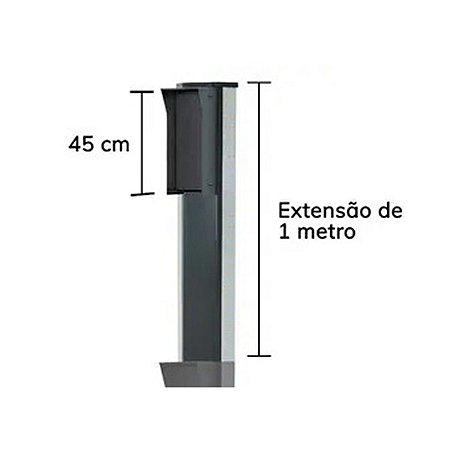 Totem Poste Expansao 1 mt - Frente 450 Preto