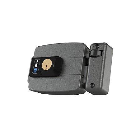 Fechadura HDL Eletrica C-90 Control c/ Leitor RFID Cinza
