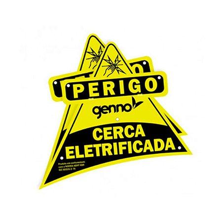 Placa de Advertencia Nice Cerca Eletrica - Face Simples