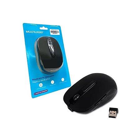 Mouse Multilaser Litio s/ Fio USB - Preto