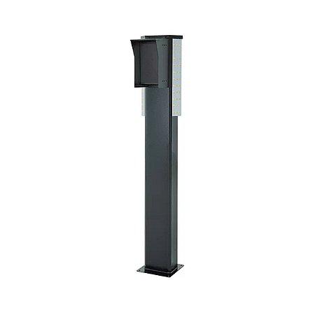 Totem Pedestal p/ Controle De Acesso 1,35m - Frente 450 Preto