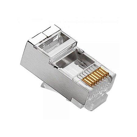 Conector Macho CAT5e RJ45 Blindado - 8x8