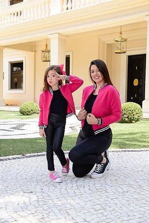 Jaqueta Bomber Pink - INFANTIL