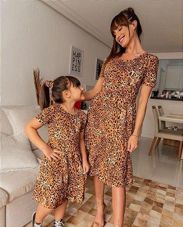 Vestido Animal Print Bruna - ADULTO
