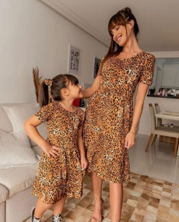 Vestido Animal Print Bruna - INFANTIL