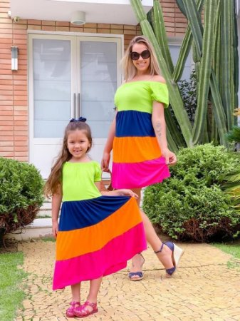 Vestido Luana Color Block ADULTO