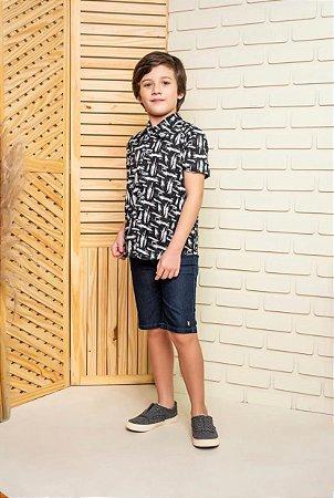 Camisa Preto e Branco - INFANTIL