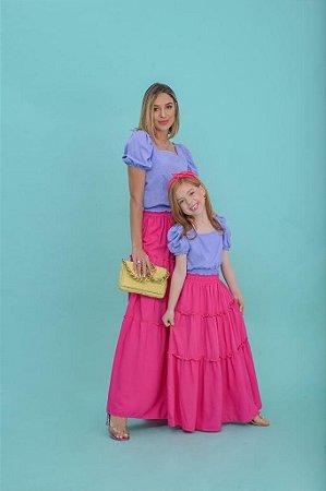 Saia longa rosa pink - INFANTIL