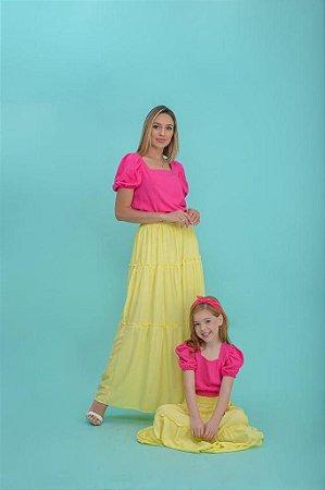 Blusa Lastex rosa Pink - INFANTIL