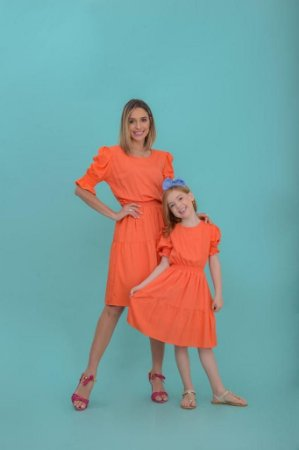 Vestido Camila laranja - ADULTO