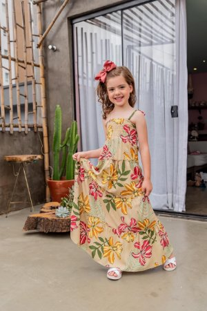 Vestido longo estampado Liz - INFANTIL