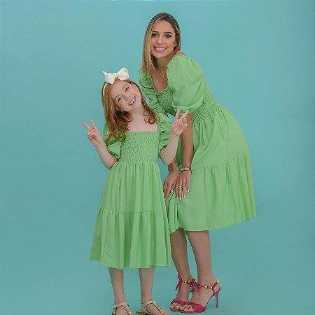 Vestido Angélica verde - ADULTO