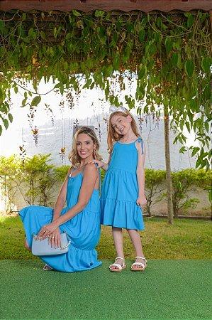 Vestido Valéria azul - INFANTIL