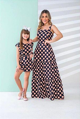 Vestido longo Poá - ADULTO