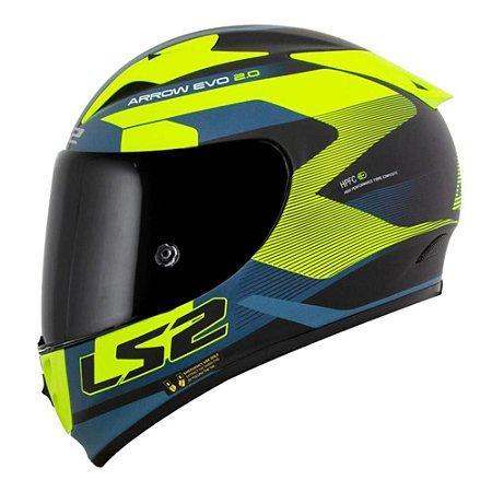 Capacete LS2 FF323 Arrow R Compete Azul/Amarelo