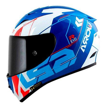 Capacete LS2 FF323 Arrow R Techno Azul/Branco/Vermelho