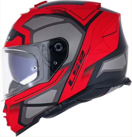 Capacete LS2 FF800 Storm Faster Vermelho Fosco/Cinza