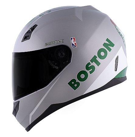 Capacete Norisk FF391 Stunt Boston Celtics Prata