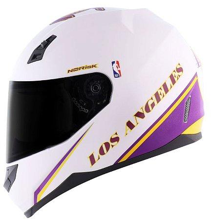 Capacete Norisk FF391 Stunt Lakers Roxo