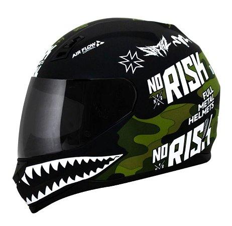 Capacete Norisk FF391 Stunt Ride Hard Preto/Verde Camo